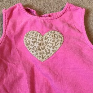 Gymboree 3T Pink jumper dress with leopard heart